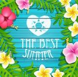 Cadre d'été avec des fleurs Images libres de droits