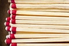 Cadre d'allumettes macro Photo libre de droits