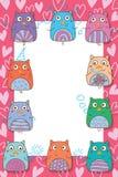 Cadre d'amour de célébration d'aile de main de hibou illustration stock