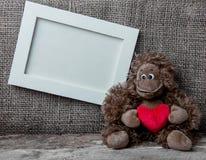 Cadre d'amour de singe Images libres de droits