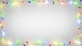 Cadre d'ampoules de Noël illustration libre de droits