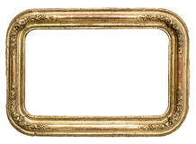 Cadre d'or antique Photographie stock
