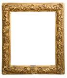 Cadre d'or antique d'isolement sur le fond blanc image libre de droits