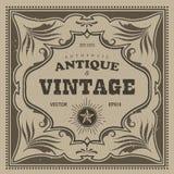 Cadre d'antiquité de frontière de label occidental de cadre de vintage rétro illustration de vecteur
