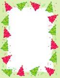 Cadre d'arbre de Noël Images stock