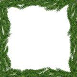 Cadre d'arbre de Noël d'isolement Photos libres de droits