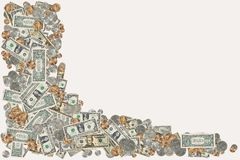 Cadre d'argent photographie stock libre de droits