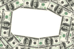 Cadre d'argent photographie stock