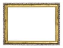 Cadre d'argent et d'or photographie stock