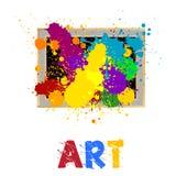 Cadre d'art Photos stock