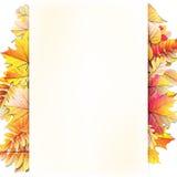 Cadre d'automne avec la feuille de chute ENV 10 Images stock