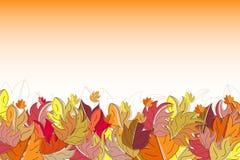 Cadre d'automne avec les feuilles colorées illustration de vecteur