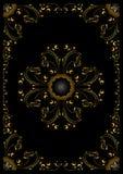 Cadre d'or avec l'ornement calligraphique Photos stock