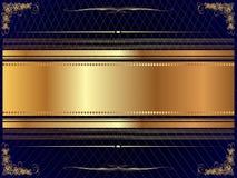 Cadre d'or avec le modèle 8 Photos libres de droits