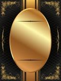 Cadre d'or avec le modèle 12 Photos stock