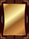 Cadre d'or avec le modèle 11 Photos stock