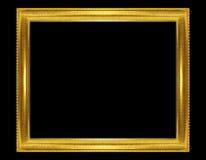 cadre d 39 or d 39 isolement sur le fond noir photo stock image 43051329. Black Bedroom Furniture Sets. Home Design Ideas