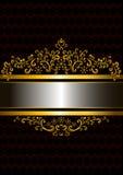 Cadre d'or dans le style ancien avec les formes crépues Photographie stock libre de droits