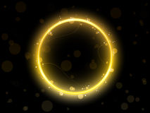 Cadre d'or de cercle Images libres de droits
