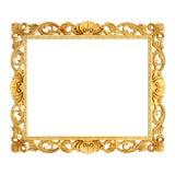 cadre d'or de classique du vintage 3d Photo libre de droits