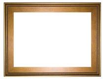 Cadre d'or Photographie stock libre de droits