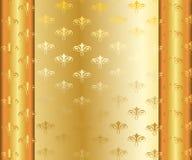 Cadre d'or de vecteur avec d'or Images libres de droits