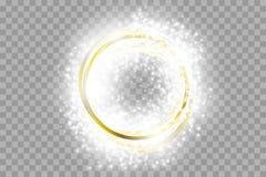 Cadre d'or de vecteur avec des effets de la lumi?re Banni?re brillante de rectangle illustration libre de droits