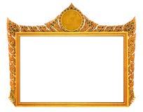 Cadre d'or de vintage d'isolement photo stock