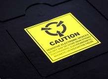 Cadre d'emballage d'ESD images libres de droits