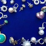 Cadre d'embarquement de bijoux de cru image libre de droits