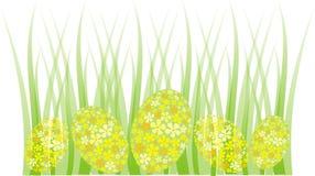 Cadre d'herbe d'oeuf de pâques Images stock