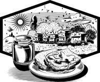 Cadre d'hexagone avec le pot de miel images libres de droits