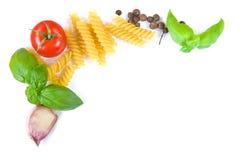 Cadre d'ingrédients de pâtes Images stock