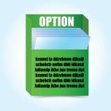 Cadre d'interclasseuse de Livre vert illustration de vecteur