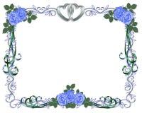 Cadre d'invitation de mariage Image stock