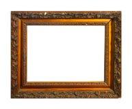 Cadre d'isolement de photo, cadre antique en bois de photo photographie stock libre de droits