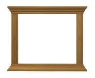 Cadre d'isolement par bois large Photographie stock