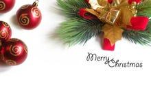 Cadre d'ornement de Noël Photographie stock libre de droits