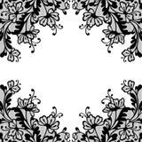 Cadre d'ornement de vecteur de fleur illustration de vecteur