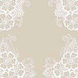 Cadre d'ornement de vecteur de fleur Image libre de droits