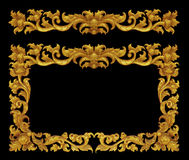 Cadre d'ornement du vintage plaqué par or floral Image stock