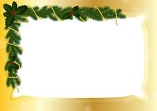 Cadre d'or pour Noël Photos libres de droits