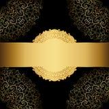 Cadre d'or sur un fond noir. Photographie stock libre de droits