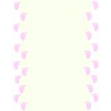 Cadre de bébé avec le rose d'empreintes de pas de bébé Photos stock
