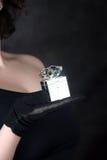 Cadre de bijou argenté Images stock