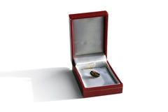 Cadre de bijou avec le grain de café Photographie stock