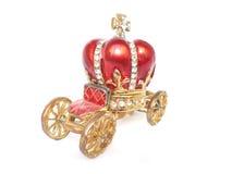 Cadre de bijou dans la forme du chariot et de la corona Photographie stock