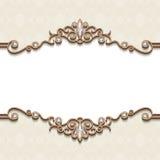 Cadre de bijoux d'or illustration de vecteur