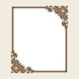 Cadre de bijoux d'or de rectangle illustration stock