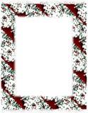 Cadre de biscuit de Noël sur le blanc Photo libre de droits